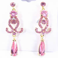Gold Plated Zircon Earrings
